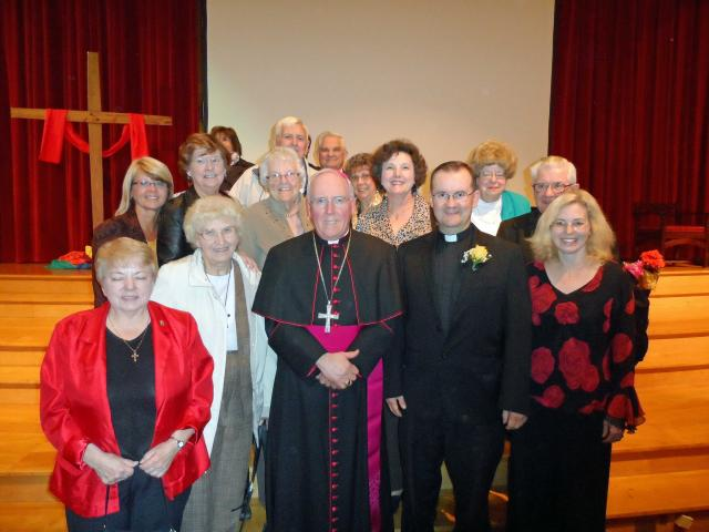 A large contingent of parishioners attended the celebration for Father Matt.